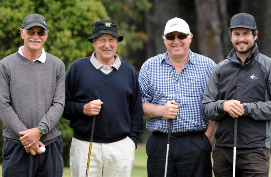 Members of the Otago Daily Times team (from left) Keith Campbell, Colin Colquhoun, Dave Cannan...