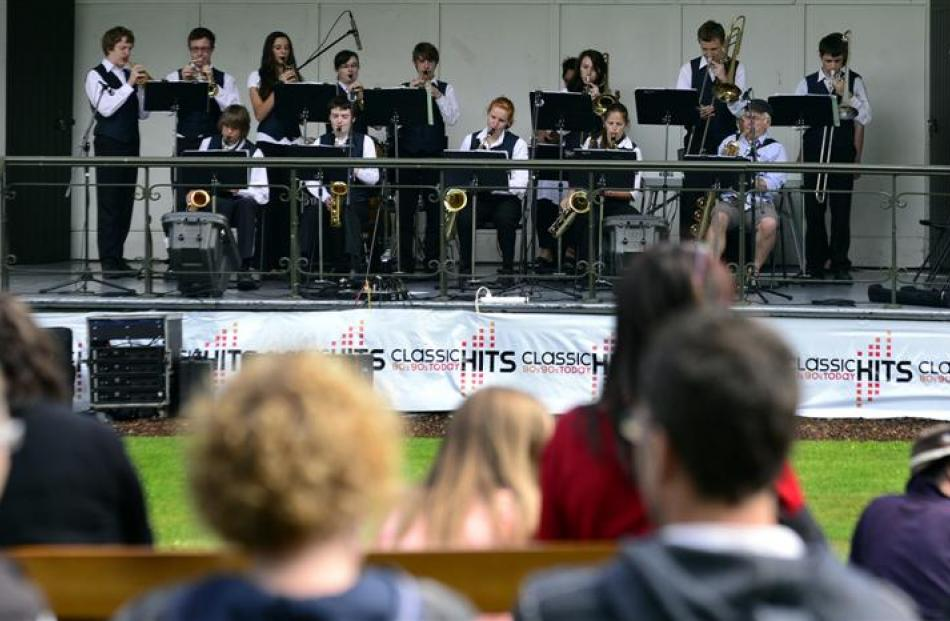 The Bayfield High School jazz band (top) performs before an appreciative audience at this year's...