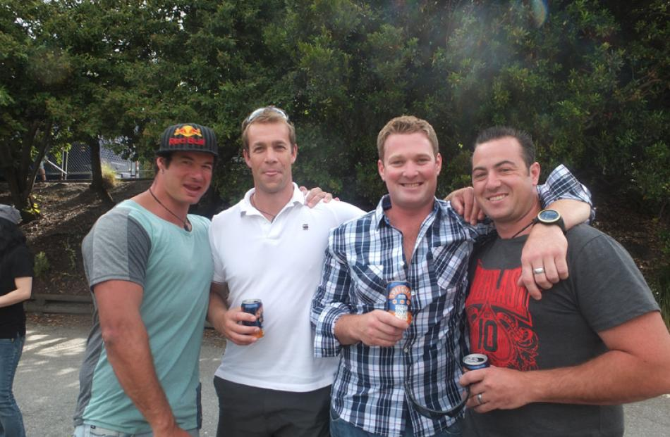 Carrie McCarthy, Graham McLellan, Chris Kent and Brendon Mitchell, all of Queenstown.