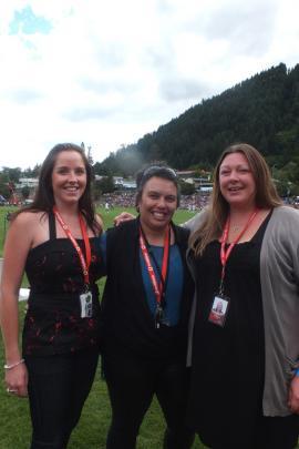 Donna Johnston of Queenstown, Heidi Renata of Dunedin, and Victoria Haydon of Wanaka.