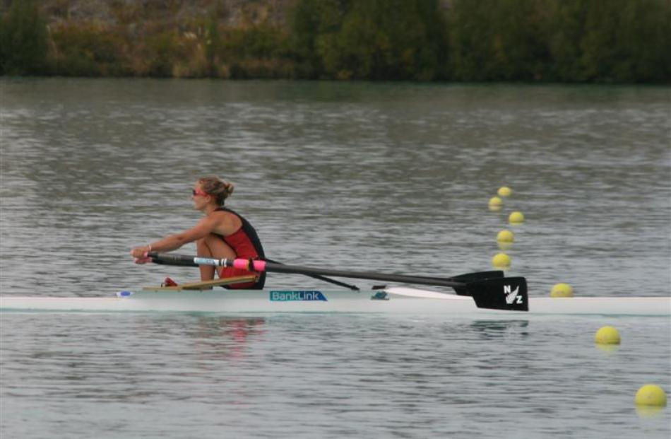 Lucy Strack (North End) after winning the women's open light weight single sculls. Photos by...