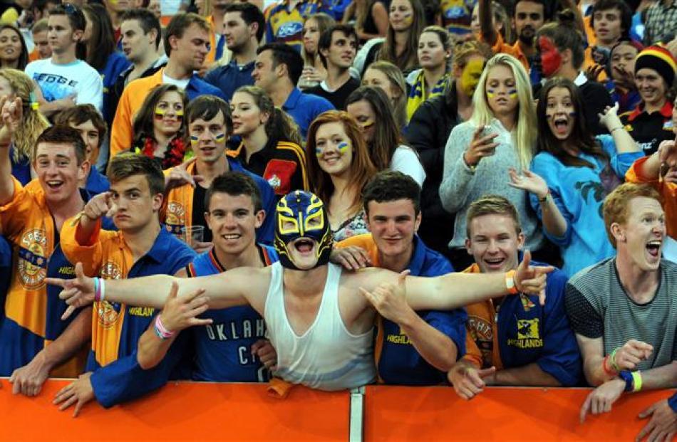 A snapshot of the crowd at Forsyth Barr Stadium last night.