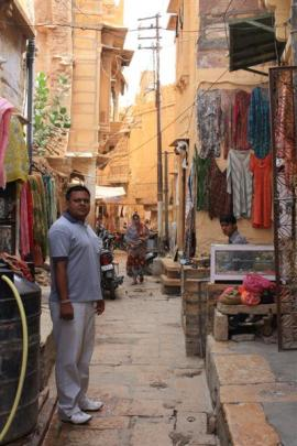 Guide Lalit Bramason is a handy man to have along when negotiating the labyrinth of alleyways.