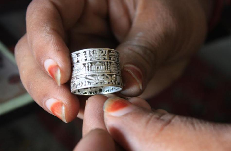 Raja Soni's miniaturised silverware is of a unique design.