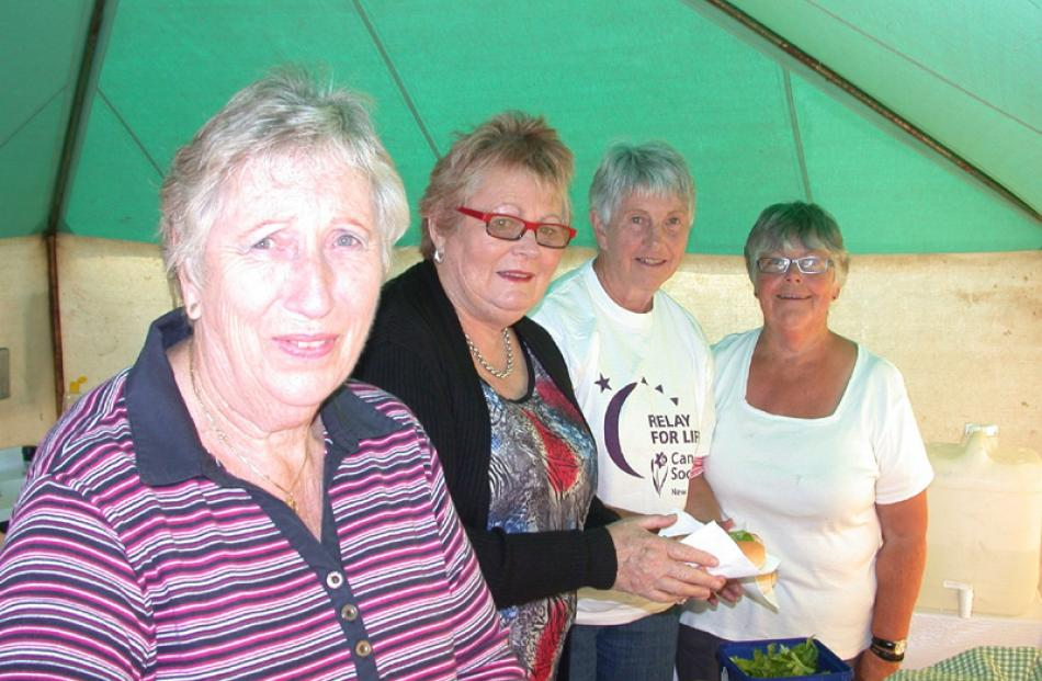 Lexie McCone, Nola Searle, Amy Winchester and Gaynor Milmine raise funds for Relay for Life.