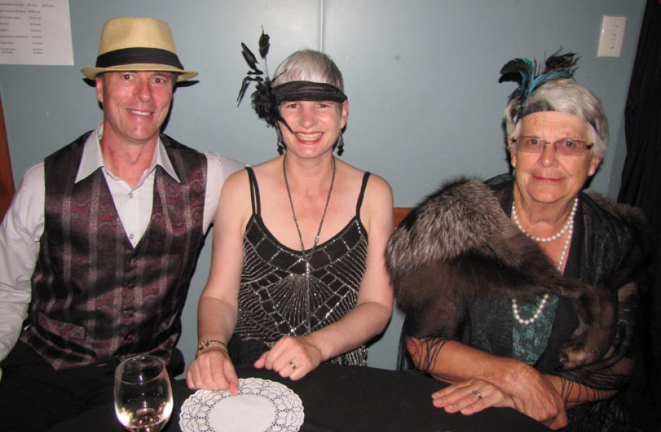Jason and Gina Taylor, of Mosgiel, and Francie Morrow, of Ranfurly.