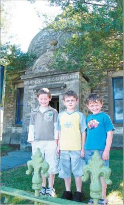 Young and old: Brothers ( from left ) Caleb ( 8 ), Ethan (6) and Zane ( 5 ) Garr, of Cromwell,...