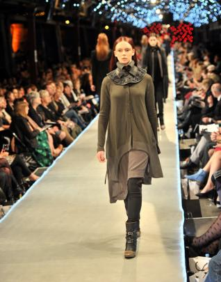 Collars and capes are a strong feature of the winter collection by  Mild-Red.