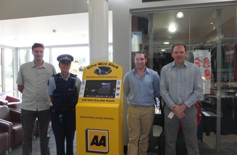In January,  Queenstown police launched an interactive kiosk at  Queenstown Airport to help...