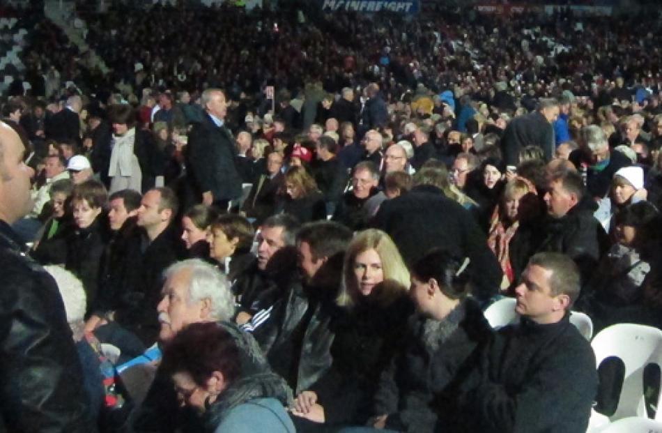 The crowd at Forsyth barr Stadium.
