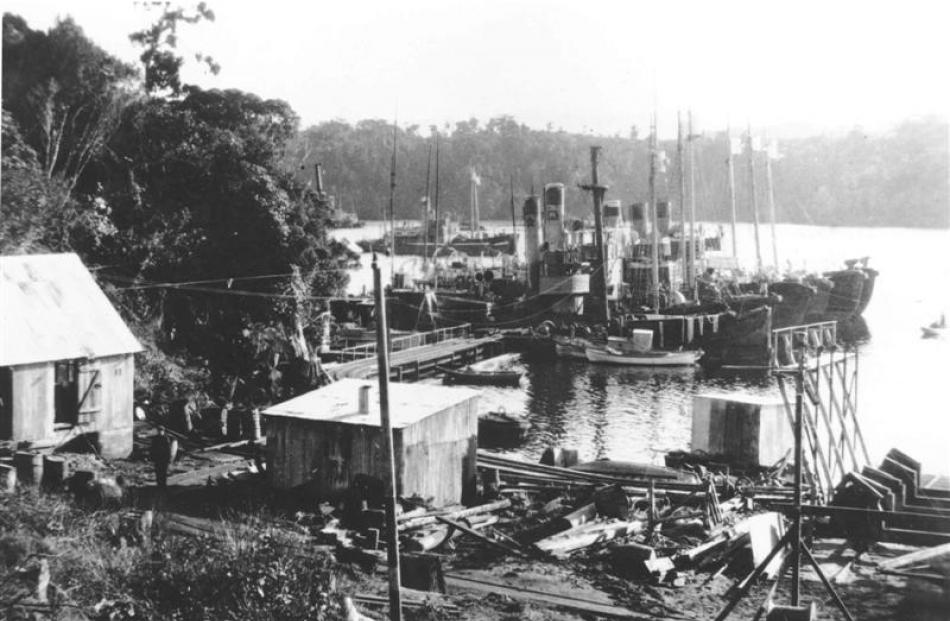The Norwegian whalers' base at Price's Inlet, Stewart Island, circa 1926-1932. Photos supplied.