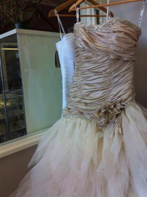 Champagne coloured gown at Je T'aime