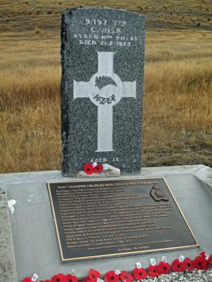 Even the isolated grave of Trooper Charles Risk in the Nevis Valley gets poppies on Anzac Day....