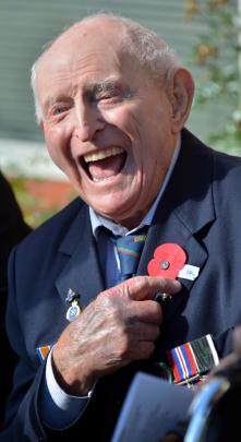 WWII veteran Phil Smith at Montecillo.
