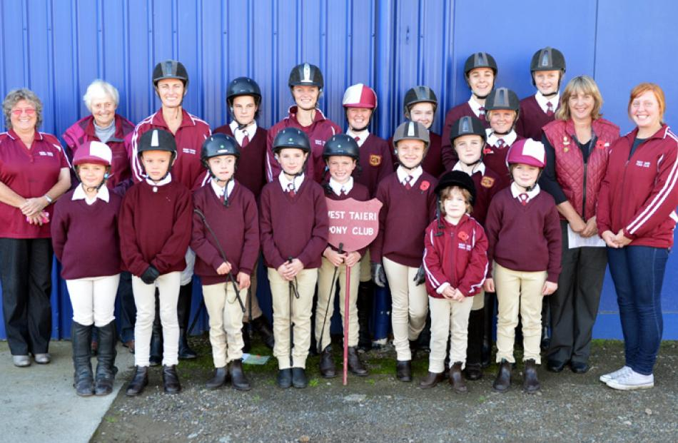 West Taieri Pony Club members assemble at Outram.