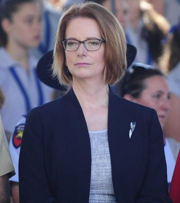 Australian Prime Minister Julia Gillard said no to a meeting in 2011. (Photo by Ian Hitchcock...