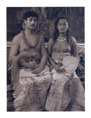Shigeyuki Kihara, Ulugali'i Samoa: Samoan Couple, 2005 (2010). Image reproduced courtesy of...