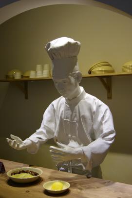 Somewhat creepy mannequin at the Jjajangmyeon Museum.