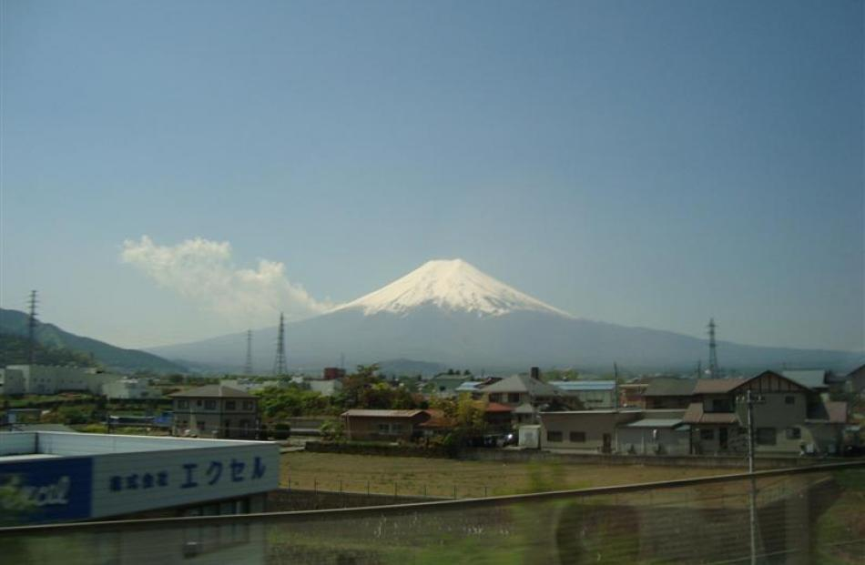 Mt Fuji is as symmetrical and beautiful as it is in posters.