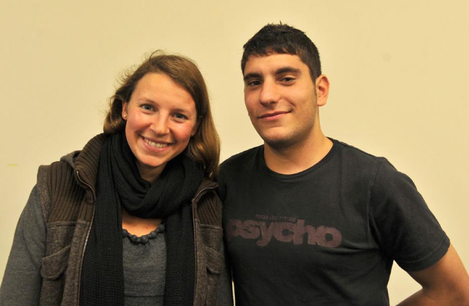 Lenka Blass and Antonio Izzo, both of Dunedin.