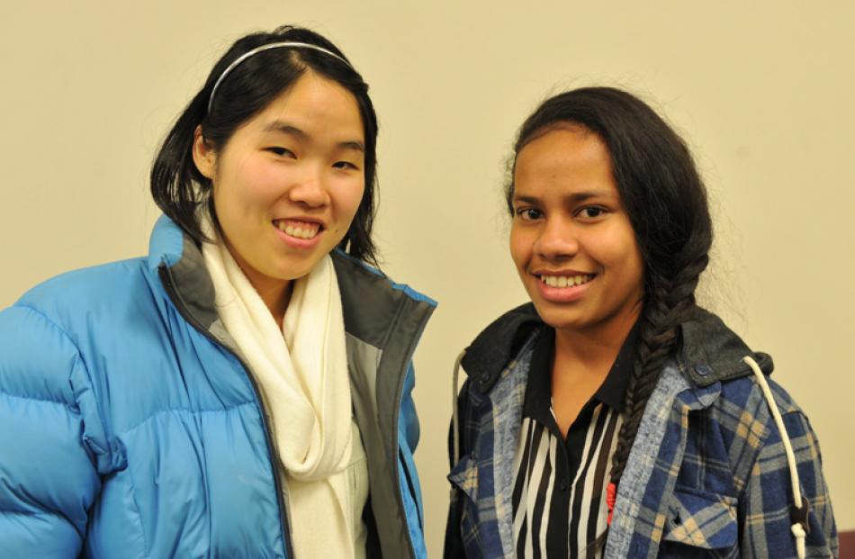 Stephanie Tcheou and Vaciseva Vakalala, both of Dunedin.