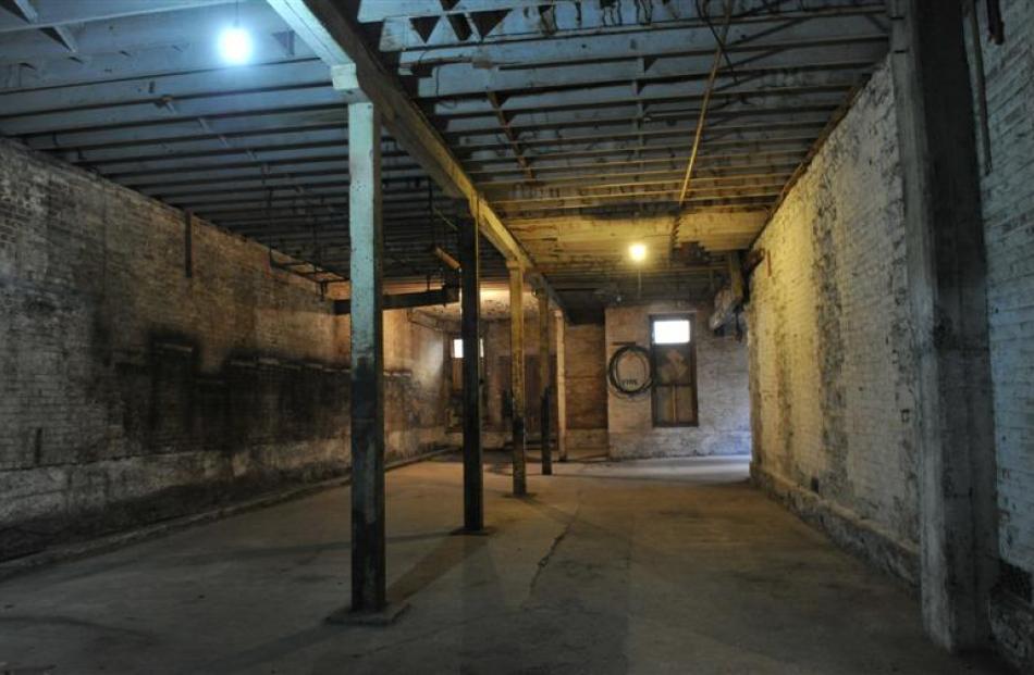 Original materials in the basement.
