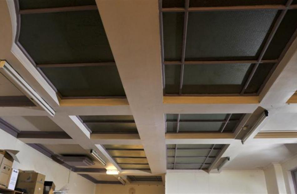 Skylights that flooded the library with natural light.