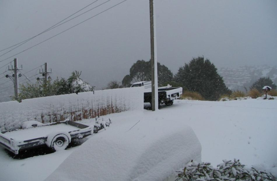 Reader photo from Jim Bennett, in Pine Hill, taken about 10.30am.