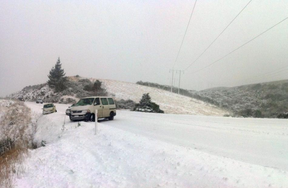 Reader photo from Lee Paterson, who says: We made it in from Waitati, but only in 4WD with chains!