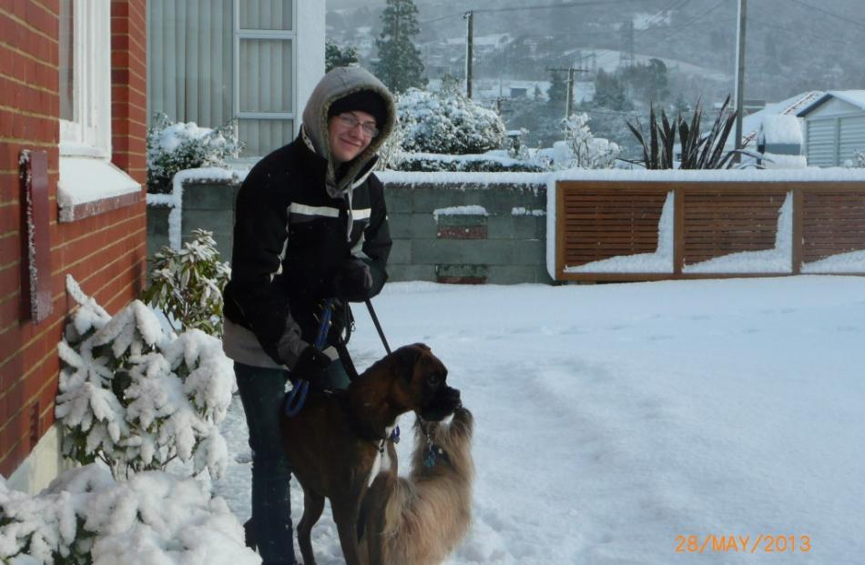 Shaun Key and the wannabe sled dogs Buster and Bear off to explore. Reader photo from Brent and...