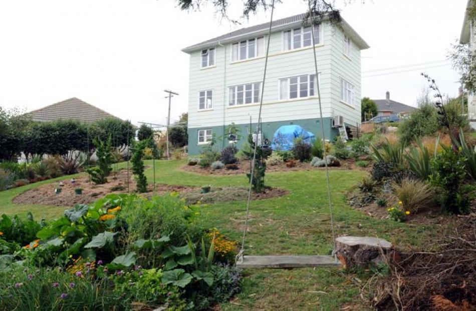 The garden of the ex State house was the first thing the owner tackled after moving in about...