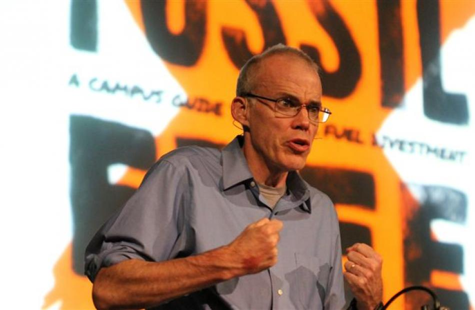 Environmental activist Bill McKibben is calling for a fossil fuel resistance to take on global...