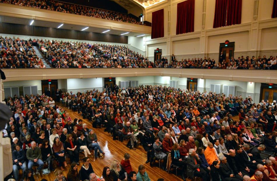 A capacity crowd.