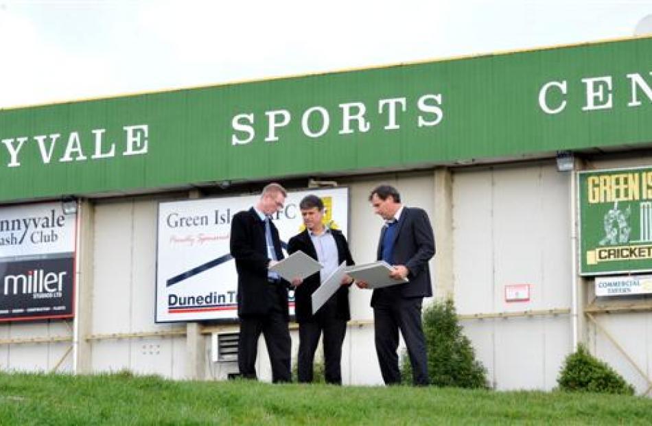 Sunnyvale Sports Centre upgrade working party members (from left) John Moyle, Richard Johnston...