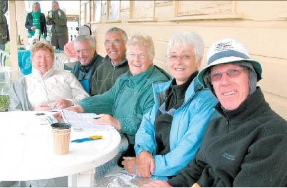 On holiday: Scottish visitors (from left) Susan Clark, Bill Jamieson, Alistair Clark and Margaret...