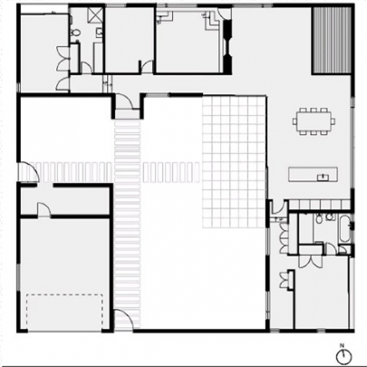 The courtyard is at the the heart of the house. Architectural Plans by Glamuzina Paterson...