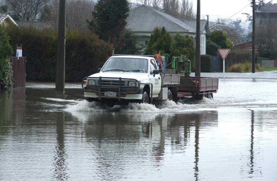 Flooding in Milton.