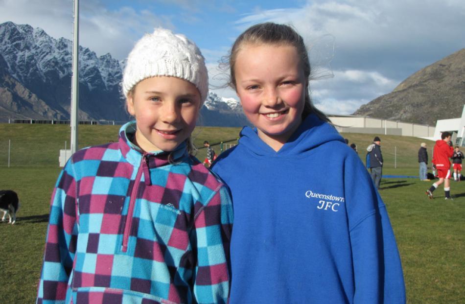 Nieve Collin (10), left, and Georgie Jessop (10), both of Queenstown.