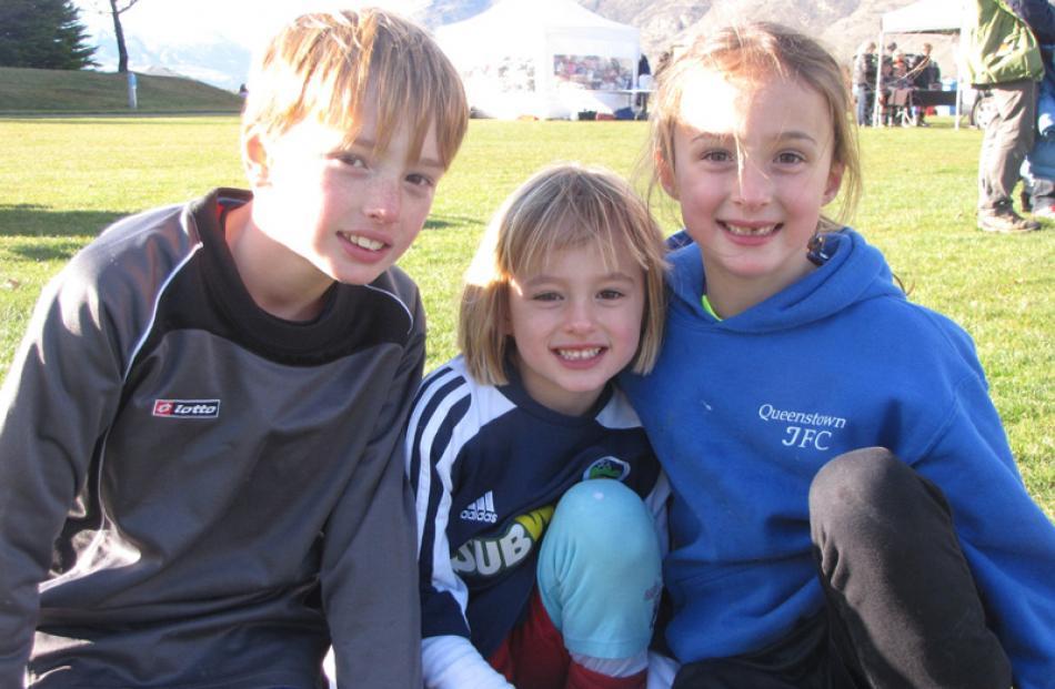 Zachary Key (9), Sasha Key (4) and Olivia Key (7).