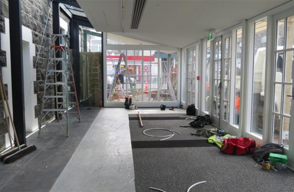 The new atrium space at the H.D. Skinner Annexe allows in plenty of light.