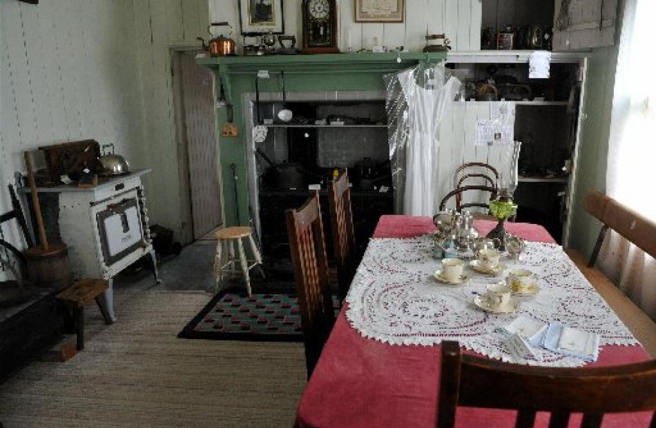 The re-created kitchen is popular with the estimated 1000 people who visit the museum each year.