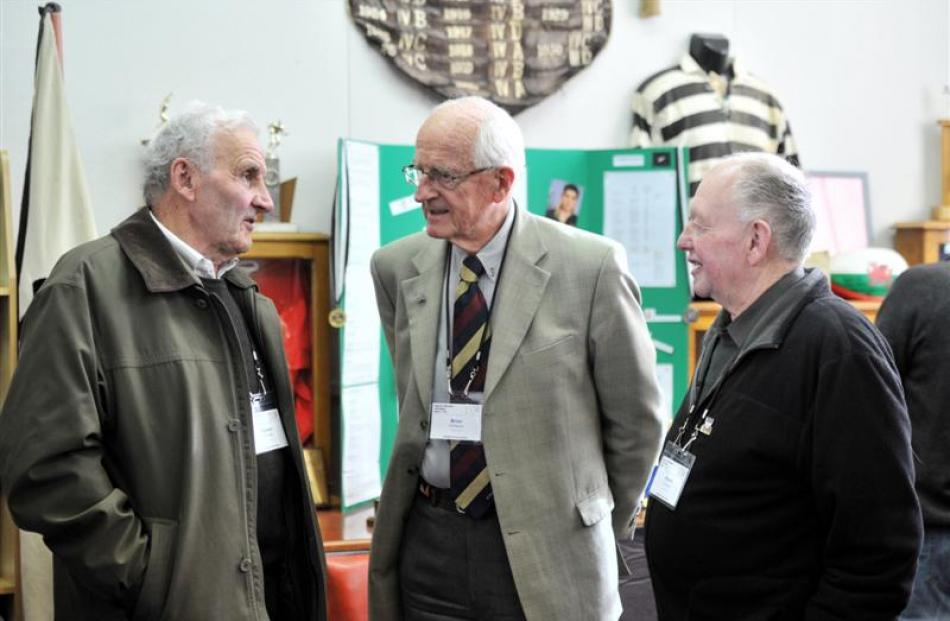 Former Otago Boys' High School pupils at the 150th Anniversary on Saturday (from left) Stewart...