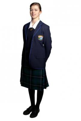 Monique Hannagan (16) models the school's new female uniform.