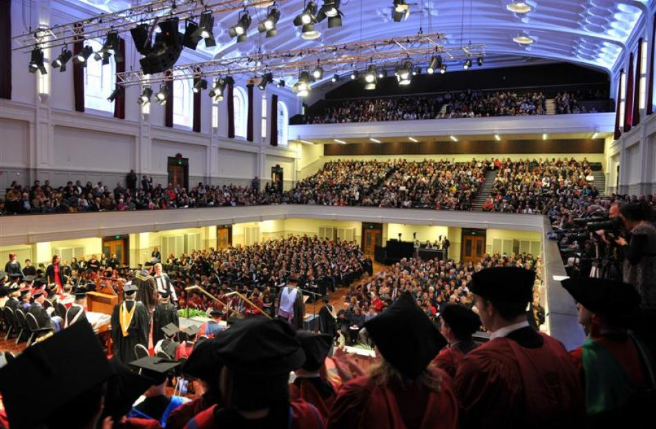 The University of Otago  graduation ceremony returned to the Dunedin Town Hall on Saturday, after...