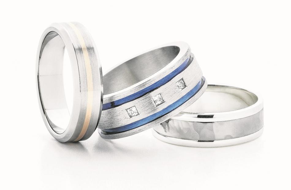 Men's titanium wedding rings at Daniels Showcase Jewellers.