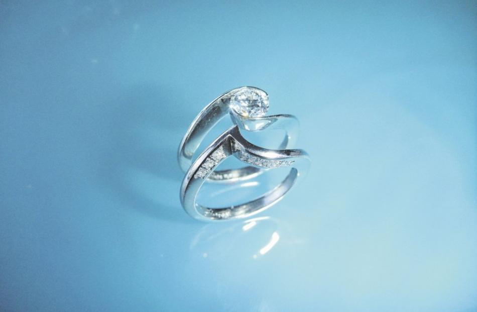 Platinum and diamond ring by Chris Idour.