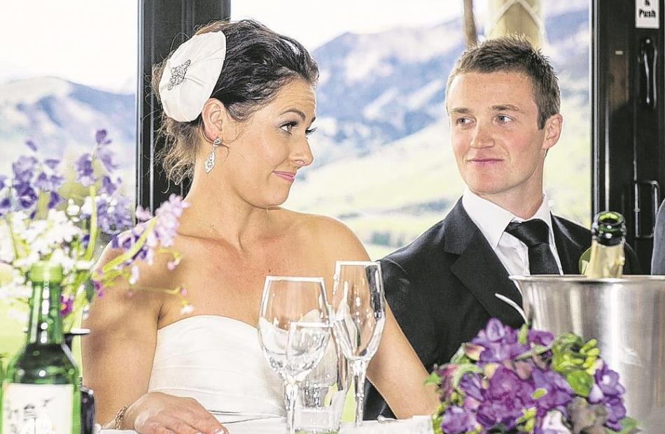 Richard and Emma Jones at their reception in October last year.