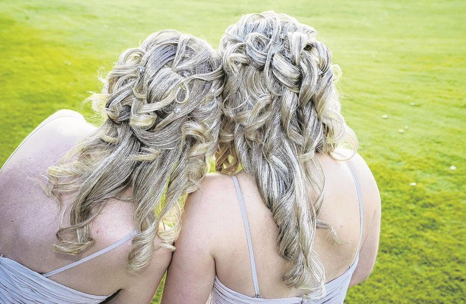 Bridesmaids at the May wedding of Adam and Jess Hammersley in Wanaka. ASPIRING PHOTOGRAPHY