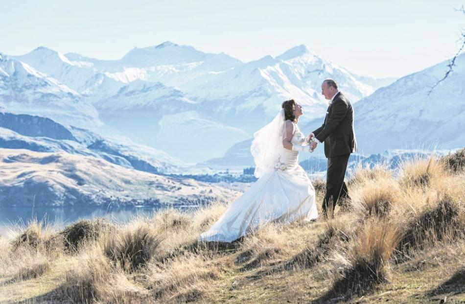 Paulette Petelo and Russell Cavanagh celebrated their wedding at the Mt Soho Winery, Arrowtown,...