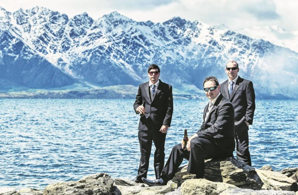 Robert Whale and his attendants in Queenstown.